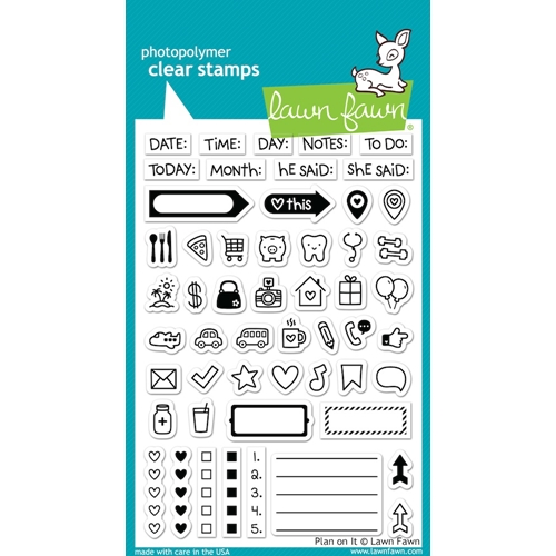 Lawn Fawn PLAN ON IT Clear Stamps LF1129 Preview Image