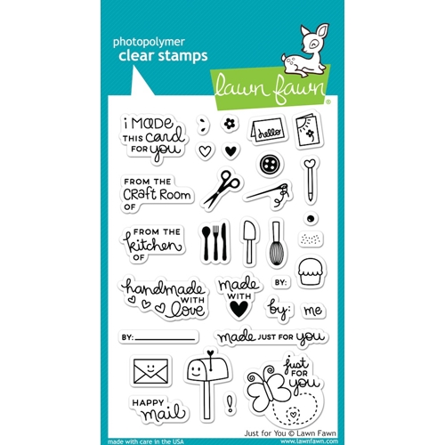 Lawn Fawn JUST FOR YOU Clear Stamps LF1130 Preview Image