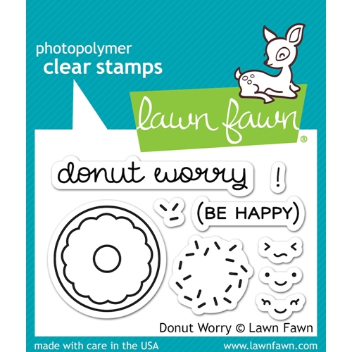 Lawn Fawn DONUT WORRY Clear Stamps LF1136 Preview Image