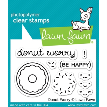 Lawn Fawn DONUT WORRY Clear Stamps LF1136