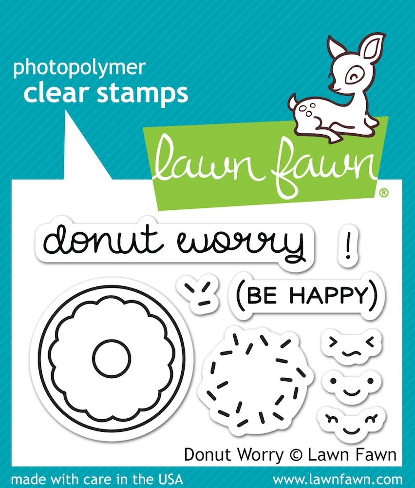 Lawn Fawn DONUT WORRY Clear Stamps LF1136 zoom image