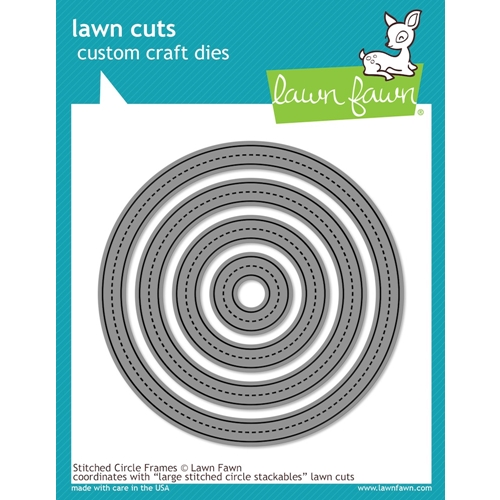 Lawn Fawn STITCHED CIRCLE FRAMES Lawn Cuts LF1141 Preview Image