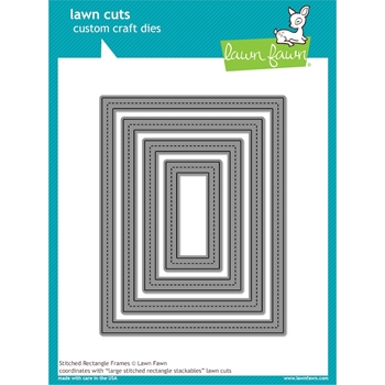 RESERVE Lawn Fawn STITCHED RECTANGLE FRAME Lawn Cuts LF1142