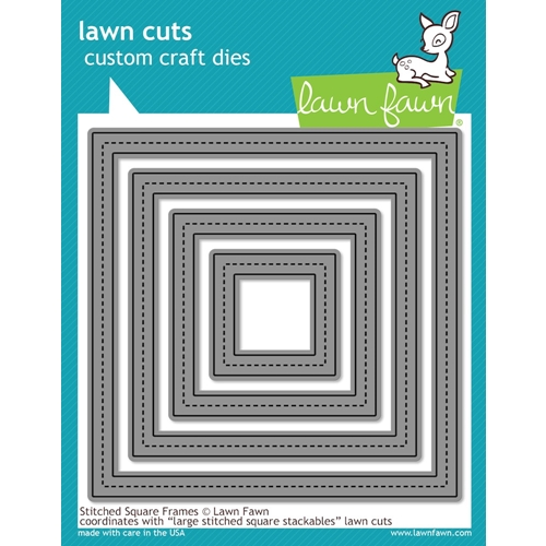 Lawn Fawn STITCHED SQUARE FRAMES Lawn Cuts LF1143 Preview Image