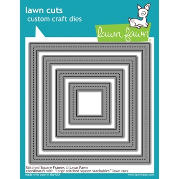 RESERVE Lawn Fawn STITCHED SQUARE FRAMES Lawn Cuts LF1143
