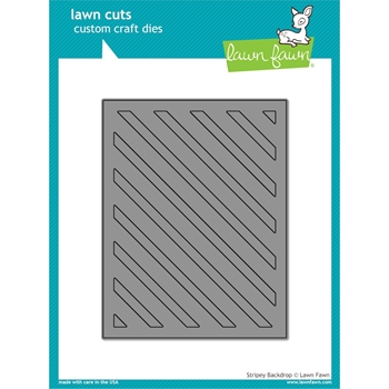 RESERVE Lawn Fawn STRIPEY BACKGROUND Lawn Cut LF1144