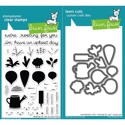 Lawn Fawn SET LF16SETRFY ROOTING FOR YOU Clear Stamps and Dies Preview Image