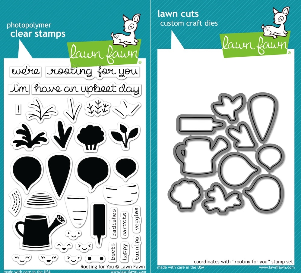 Lawn Fawn SET LF16SETRFY ROOTING FOR YOU Clear Stamps and Dies