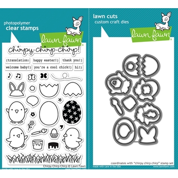 RESERVE Lawn Fawn SET LF16SETCCC CHIRPY CHIRP CHIRP Clear Stamps and Dies
