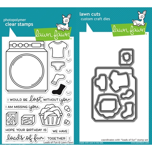 Lawn Fawn SET LF16SETLOF LOADS OF FUN Clear Stamps and Dies Preview Image