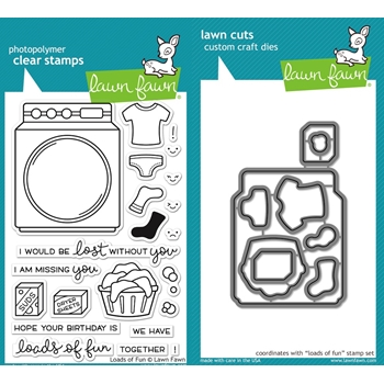 RESERVE Lawn Fawn SET LF16SETLOF LOADS OF FUN Clear Stamps and Dies