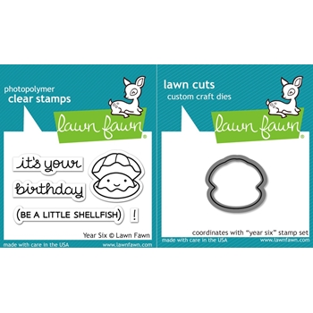 RESERVE Lawn Fawn SET LF16SETYS YEAR SIX Clear Stamps and Dies