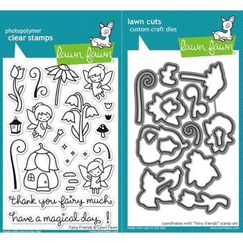 RESERVE Lawn Fawn SET LF16SETFF FAIRY FRIENDS Clear Stamps and Dies