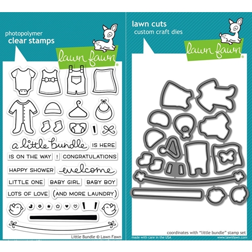 Lawn Fawn SET LF16SETLB LITTLE BUNDLE Clear Stamps and Dies Preview Image