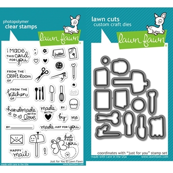 RESERVE Lawn Fawn SET LF16SETJFY JUST FOR YOU Clear Stamps and Dies