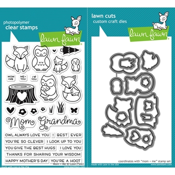 RESERVE Lawn Fawn SET LF16SETMM MOM AND ME Clear Stamps and Dies