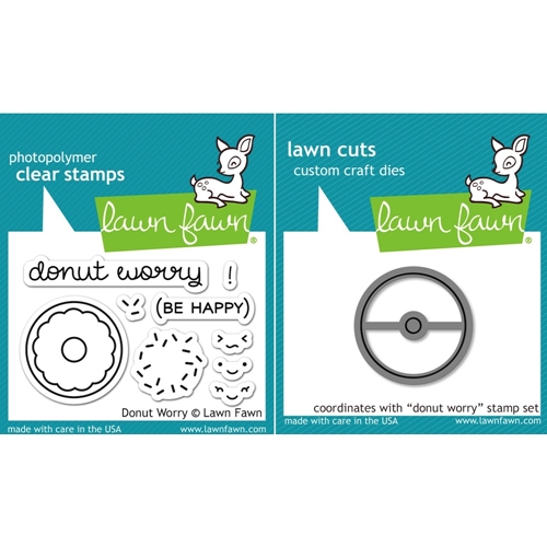 Lawn Fawn SET LF16SETDW DONUT WORRY Clear Stamps and Dies Preview Image