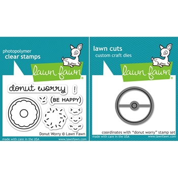 RESERVE Lawn Fawn SET LF16SETDW DONUT WORRY Clear Stamps and Dies