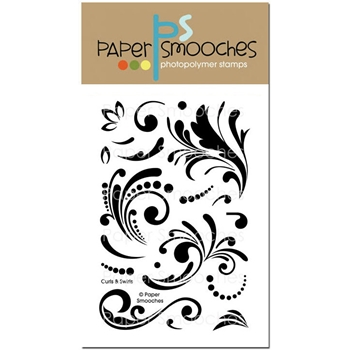 Paper Smooches CURLS AND SWIRLS Clear Stamps J1S262