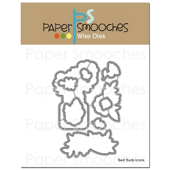 Paper Smooches BEST BUDS ICONS Wise Dies J1D297