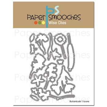 Paper Smooches BOTANICALS 1 ICONS Wise Dies J1D299