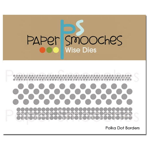 Paper Smooches POLKA DOT BORDERS Wise Dies J1D304 Preview Image