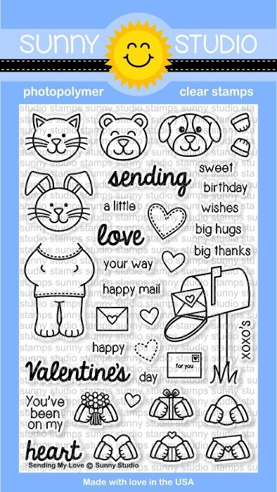 Sunny Studio SENDING MY LOVE Clear Stamp Set SSCL-122* zoom image