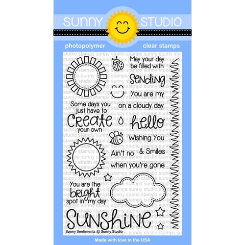 Sunny Studio SUNNY SENTIMENTS Clear Stamp Set SSCL-124 Preview Image