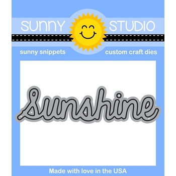 Sunny Studio SUNSHINE WORD Snippets Die SunnySS-801*