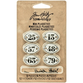 Tim Holtz Idea-ology MINI PLAQUETTES Findings TH93296