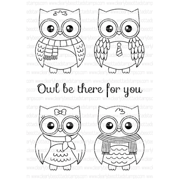 Clearly Besotted STILL A HOOT Clear Stamp Set