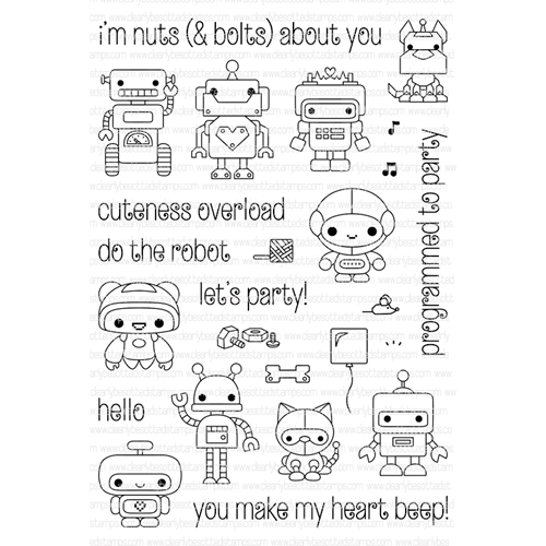Clearly Besotted MINI BOTS Clear Stamp Set  Preview Image