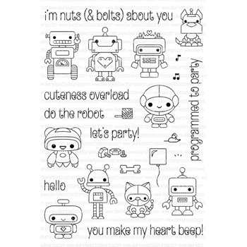 Clearly Besotted MINI BOTS Clear Stamp Set