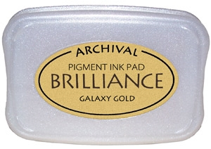 Tsukineko Brilliance GALAXY GOLD Archival Ink Pad BR-91 zoom image