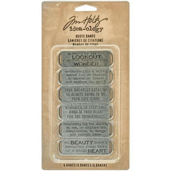 Tim Holtz Idea-ology QUOTE BANDS Findings TH93290