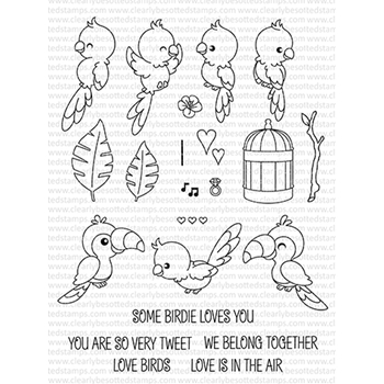 Clearly Besotted SOME BIRDIE LOVES YOU Clear Stamp Set