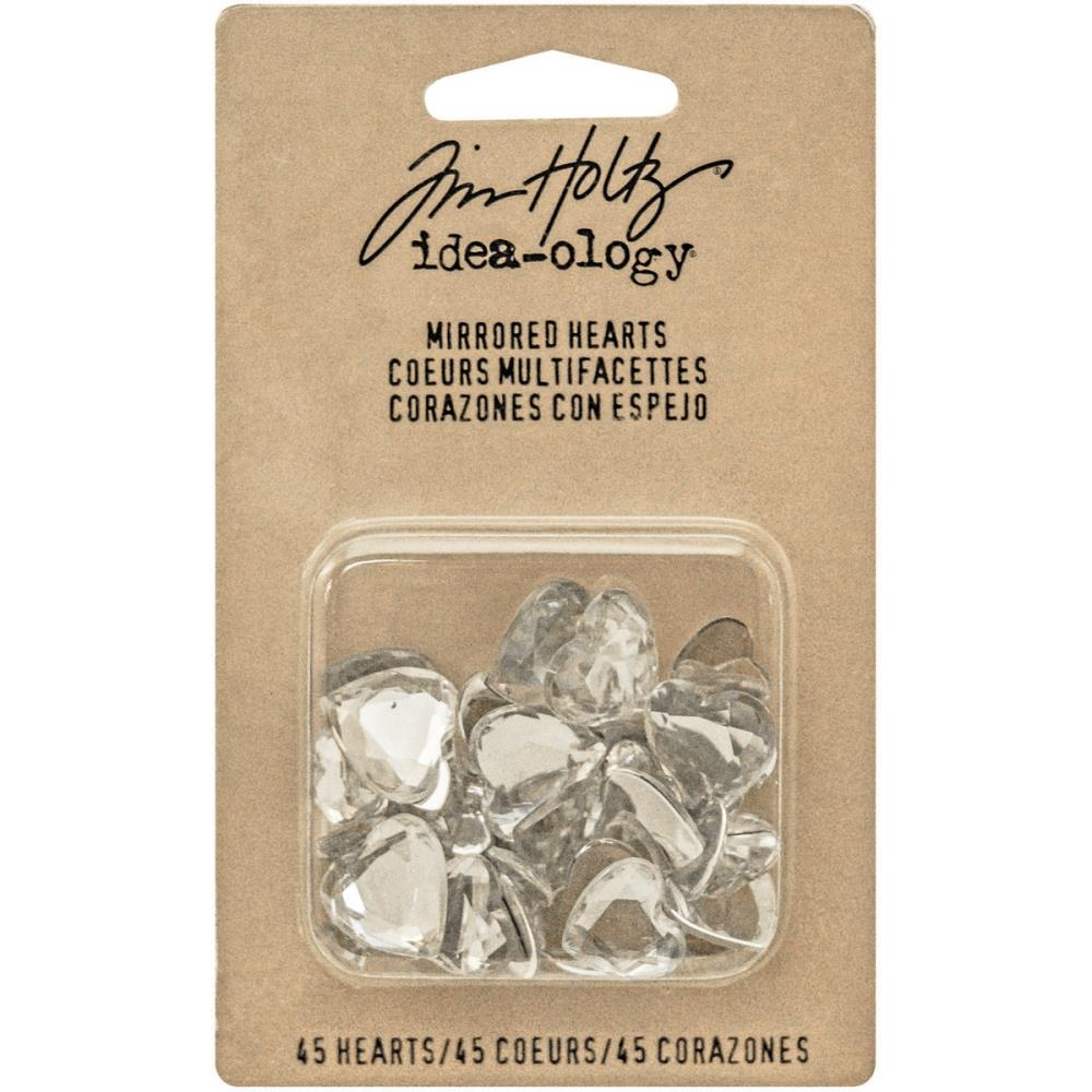 Tim Holtz Idea-ology MIRRORED HEARTS Findings TH93269 zoom image