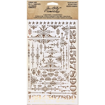 Tim Holtz Idea-ology GILDED ACCENTS REMNANT RUBS Findings TH93287