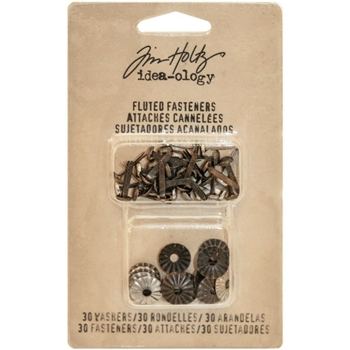Tim Holtz Idea-ology FLUTED FASTENERS Findings TH93273