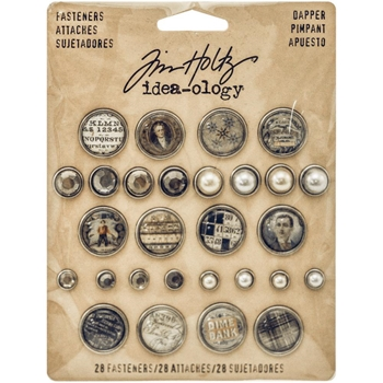 Tim Holtz Idea-ology DAPPER FASTENERS Findings TH93263