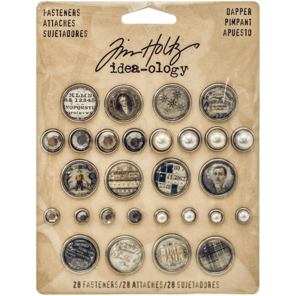 Tim Holtz Idea-ology DAPPER FASTENERS Findings TH93263 zoom image