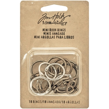 Tim Holtz Idea-ology MINI BOOK RINGS Fasteners TH93272