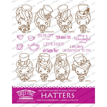 The Greeting Farm HATTERS KIT Cling Stamp Set TGF219