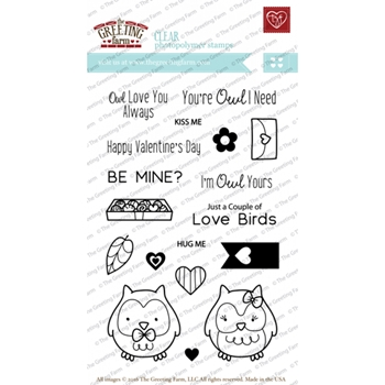 The Greeting Farm OWL YOURS Clear Stamps TGF218