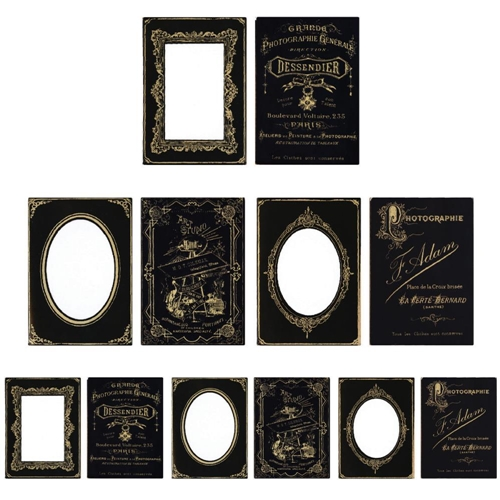 Tim Holtz Idea-ology SOPHISTICATE Cabinet Card Frames Paperie TH93288 Preview Image