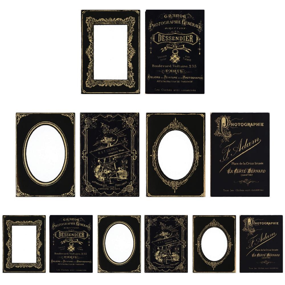 Tim Holtz Idea-ology SOPHISTICATE Cabinet Card Frames Paperie TH93288 zoom image