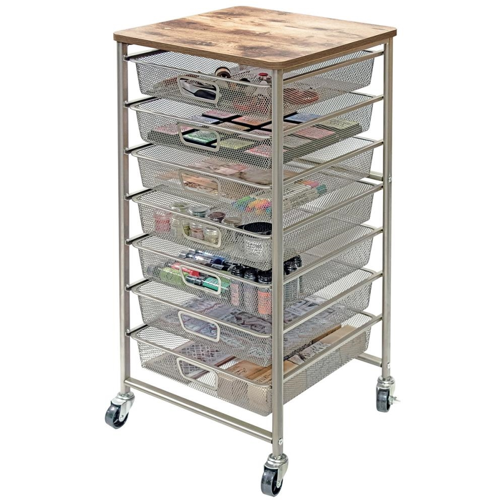 Tim Holtz Idea-ology SIGNATURE DESIGN INDUSTRIAL STORAGE CART CH93520 zoom image