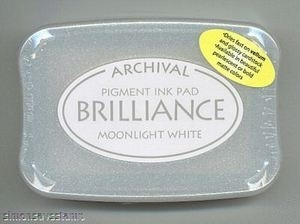 Tsukineko Brilliance MOONLIGHT WHITE Archival Ink Pad BR-80