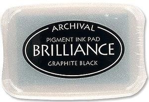 Tsukineko Brilliance GRAPHITE BLACK Archival Ink Pad BR-82 zoom image