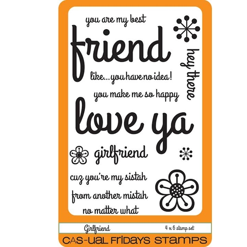 CAS-ual Fridays GIRLFRIEND Clear Stamps CFS1601 Preview Image